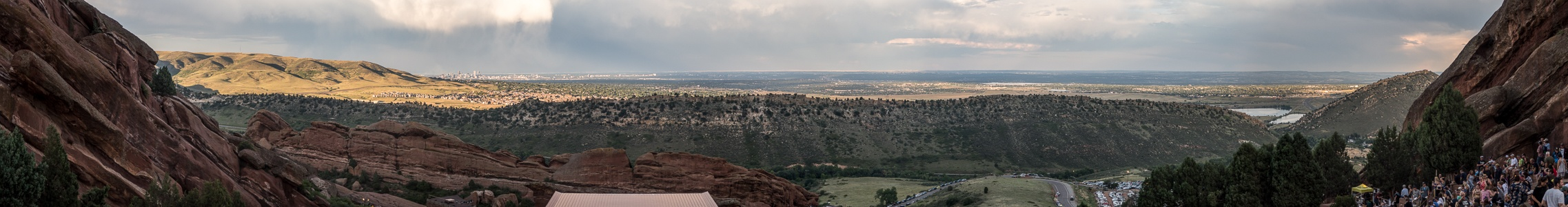 Morrison Blick vom Red Rocks Park in Richtung Denver