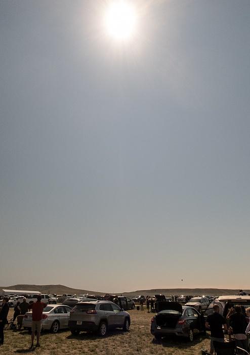 Glendo Thomas Memorial Airport: Während der partiellen Sonnenfinsternis