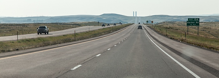 Wyoming Interstate 25 Orin - Douglas - Casper - Buffalo