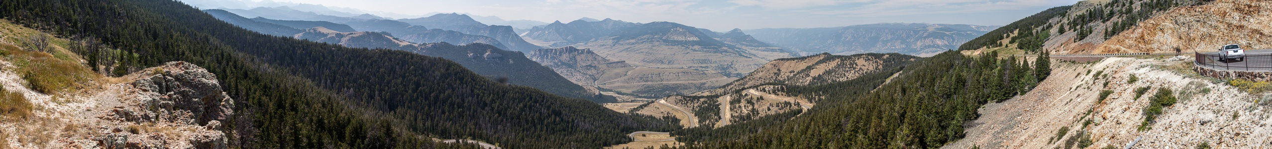 Wyoming Blick vom Dead Indian Pass: Shoshone National Forest Wyoming Highway 296