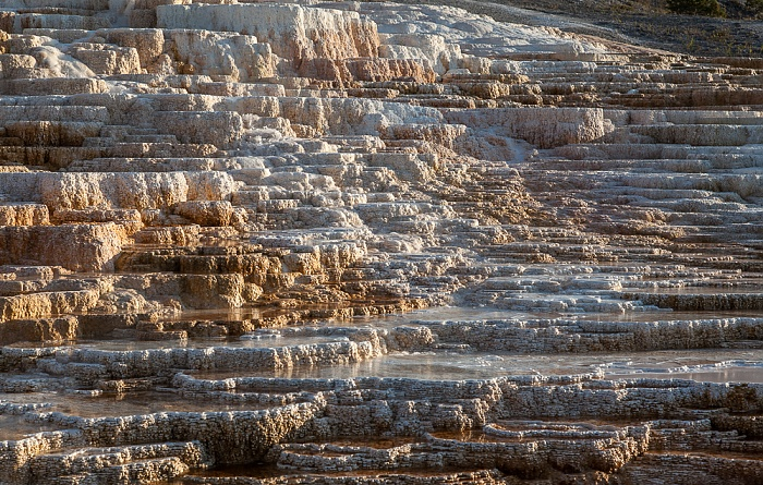 Yellowstone National Park Mammoth Hot Springs: Lower Terraces Area