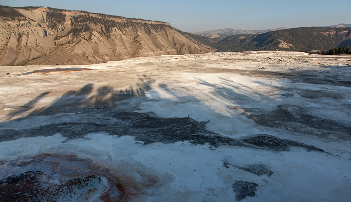 Yellowstone National Park Mammoth Hot Springs: Main Terraces Area