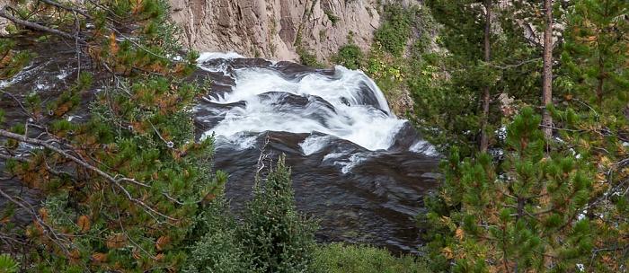 Gibbon Canyon mit Gibbon River und Gibbon Falls Yellowstone National Park