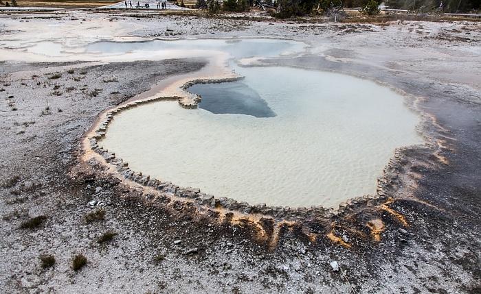 Yellowstone National Park Upper Geyser Basin: Geyser Hill - Doublet Pool