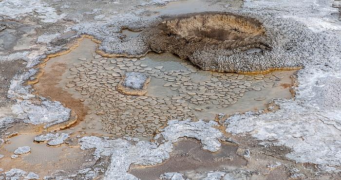 Yellowstone National Park Upper Geyser Basin: Geyser Hill - Aurum Geyser