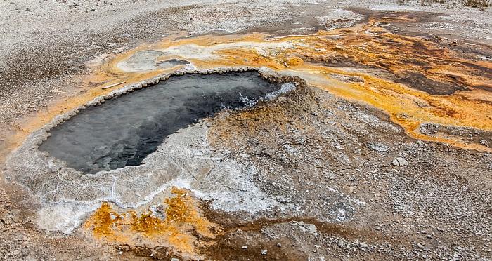 Yellowstone National Park Upper Geyser Basin: Geyser Hill - Ear Spring