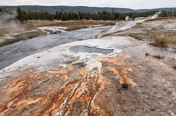 Upper Geyser Basin: Sawmill Group - South Scalloped Spring Yellowstone National Park