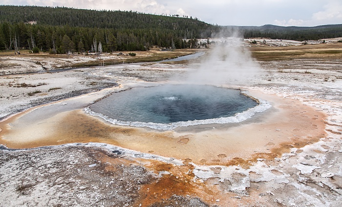 Upper Geyser Basin: Castle Group - Crested Pool Yellowstone National Park