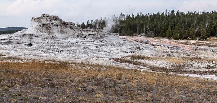 Yellowstone National Park Upper Geyser Basin: Castle Group - Castle Geyser