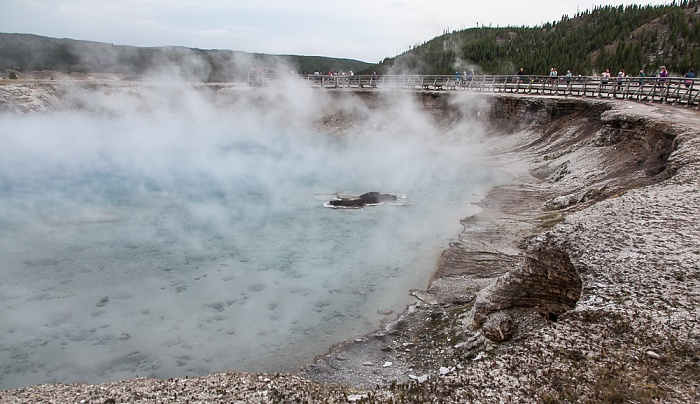 Midway Geyser Basin: Excelsior Geyser Yellowstone National Park