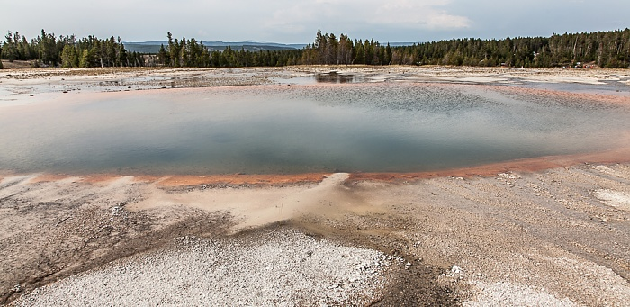 Midway Geyser Basin: Turquoise Pool Yellowstone National Park