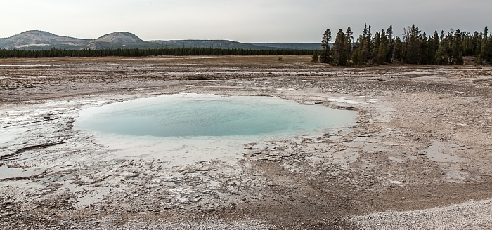 Midway Geyser Basin: Opal Pool Yellowstone National Park