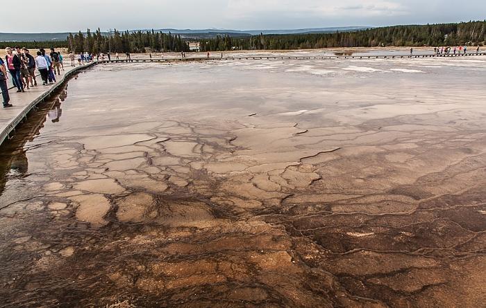 Yellowstone National Park Midway Geyser Basin: Abflüsse der Grand Prismatic Spring