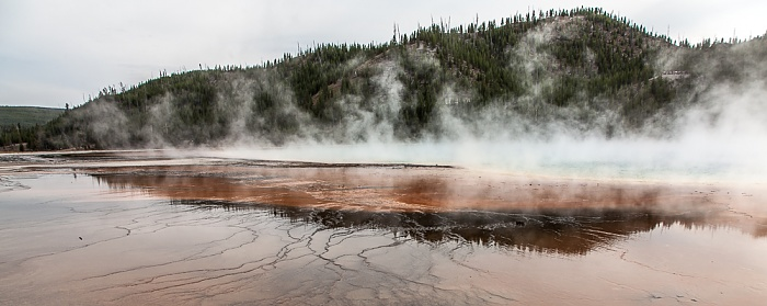 Midway Geyser Basin: Grand Prismatic Spring Yellowstone National Park
