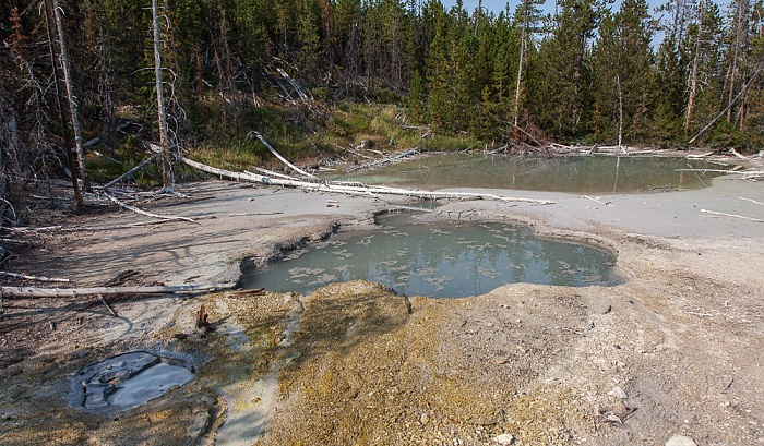 Norris Geyser Basin: Back Basin - NBBNN025 Hot Spring Yellowstone National Park