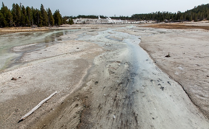 Yellowstone National Park Norris Geyser Basin: Porcelain Basin