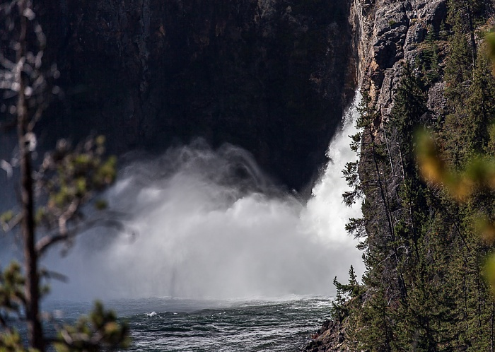 Yellowstone National Park Grand Canyon of the Yellowstone: Yellowstone River, Upper Yellowstone Falls