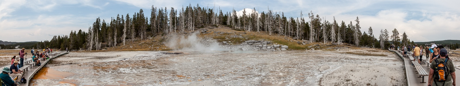 Yellowstone National Park Upper Geyser Basin: Grand Geyser