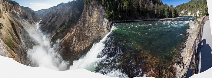 Grand Canyon of the Yellowstone: Yellowstone River mit den Lower Yellowstone Falls Yellowstone National Park
