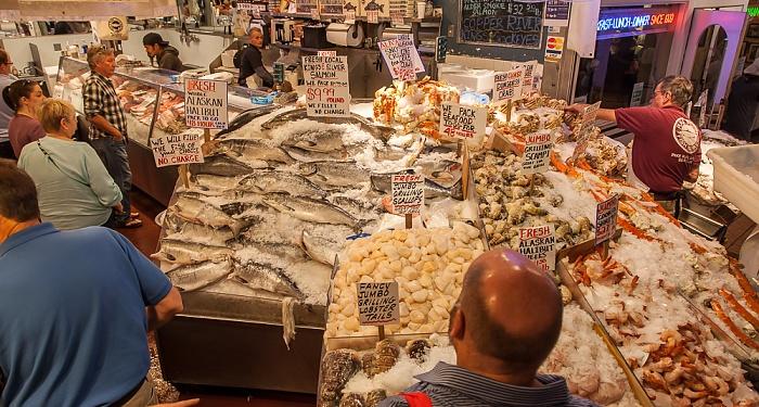 Seattle Pike Place Market: Fischverkaufsstände