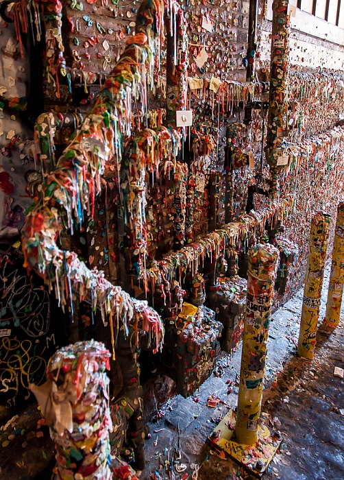 Seattle Post Alley: Market Theater Gum Wall