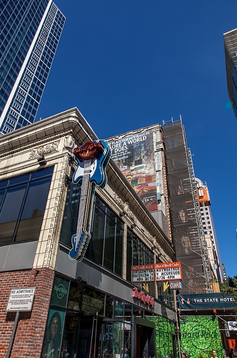 Downtown Seattle: Pike Street - Hard Rock Cafe, Eitel Building