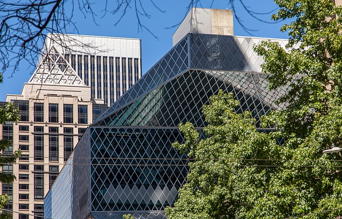 Downtown Seattle: 4th Avenue / Madison Street - Seattle Central Library Hotel W Seattle Rainier Tower