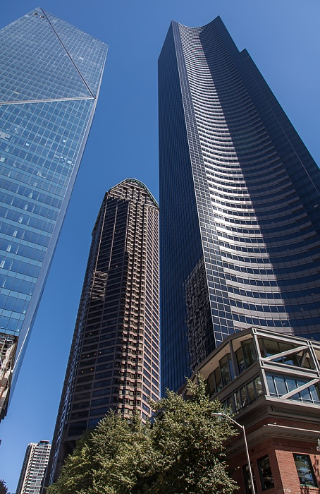 Downtown Seattle: 4th Avenue Columbia Center F5 Tower Seattle Municipal Tower