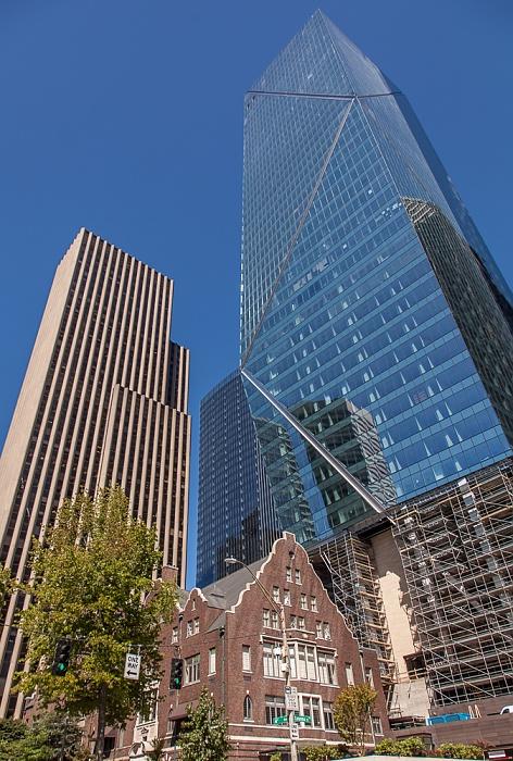 Downtown Seattle: 4th Avenue - F5 Tower und Rainier Club (unten) 800 Fifth Avenue 901 Fifth Avenue