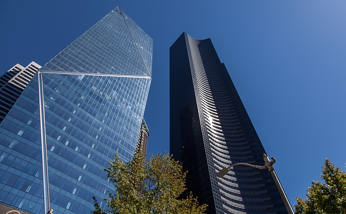 Downtown Seattle: 4th Avenue - F5 Tower und Columbia Center (ehem. Bank of America Tower, Columbia Seafirst Center) Seattle