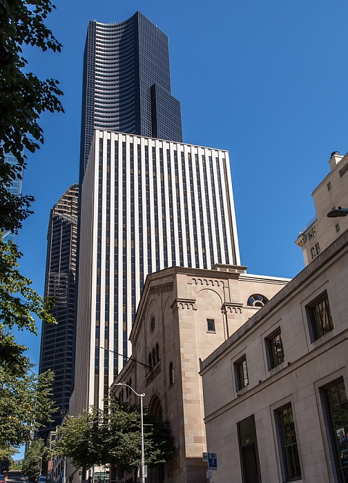Downtown Seattle: Columbia Street Chamber of Commerce Building Columbia Center Pacific Building Seattle Municipal Tower