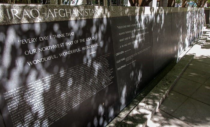 Downtown Seattle: 2nd Avenue - Garden of Remembrance Seattle