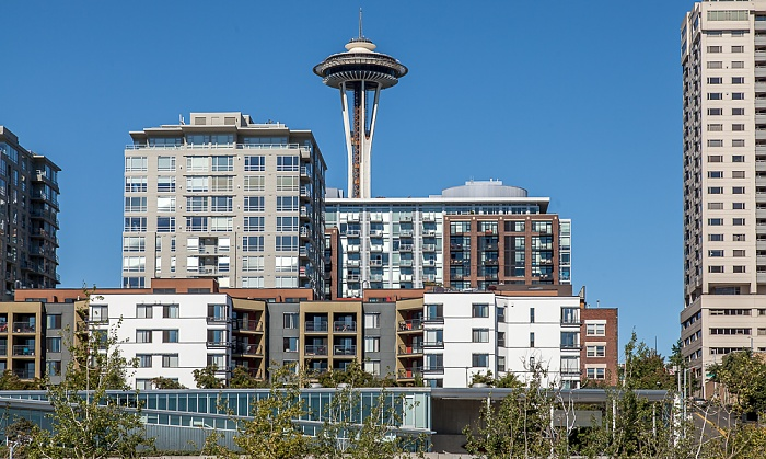 Central Waterfront: Seattle Art Museum (PACCAR Pavilion) (unten), Belltown, Space Needle