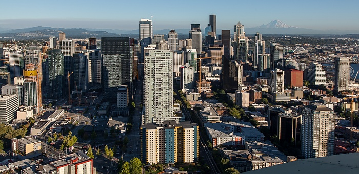 Blick von der Space Needle: Downtown Seattle Belltown