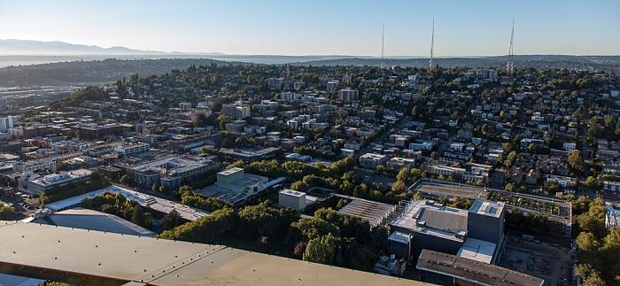 Blick von der Space Needle: Queen Anne Hill Seattle