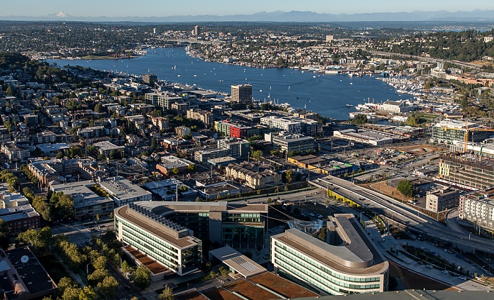 Seattle Blick von der Space Needle: Queen Anne Hill, Lake Union, Eastlake Bill & Melinda Gates Foundation Headquarters