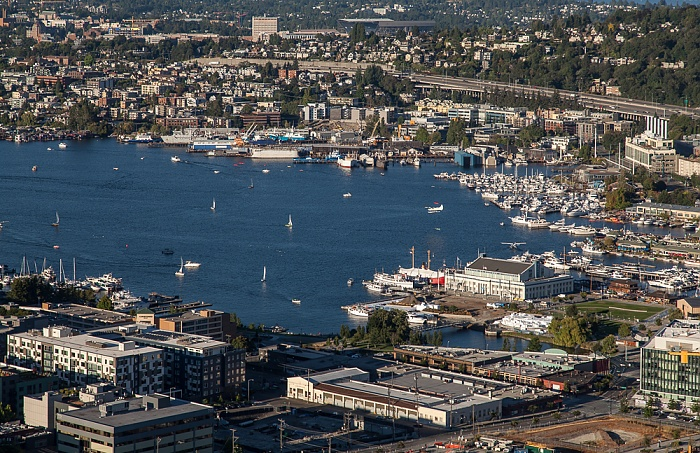 Seattle Blick von der Space Needle: Lake Union