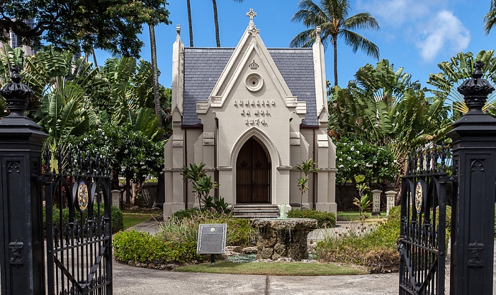 Downtown Honolulu: Hawaii Capital Historic District - Royal Mausoleum of Hawaii (Mauna 'Ala)