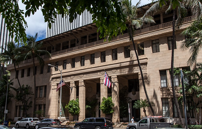 Downtown Honolulu: Bishop Street - Alexander and Baldwin Building