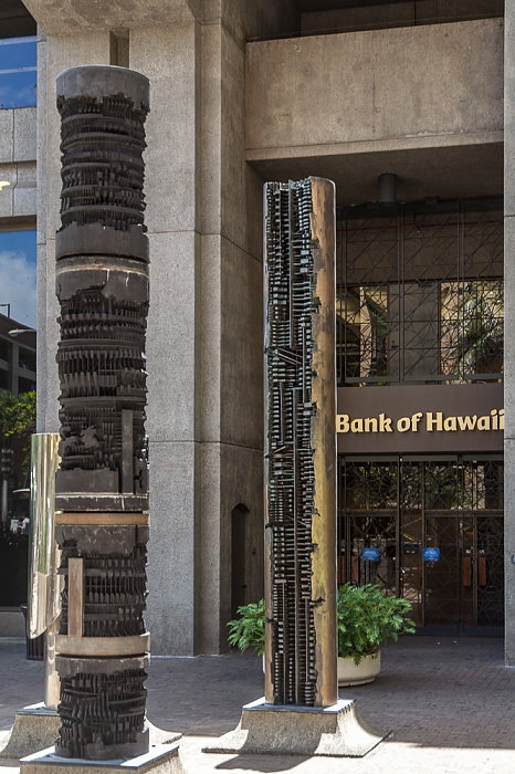 Downtown Honolulu: Fort Street Mall - Bank of Hawaii Office Tower