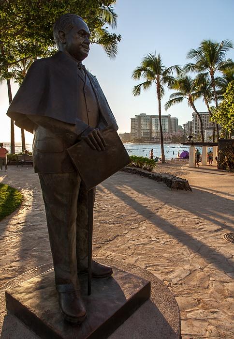 Waikiki: Kuhio Beach Park - Statue für Prince Jonah Kuhio Kalaniana'ole Honolulu