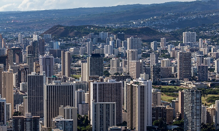 Blick vom Diamond Head: Honolulu
