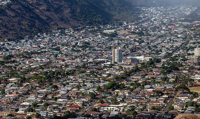 Blick vom Diamond Head: Palolo Valley Honolulu