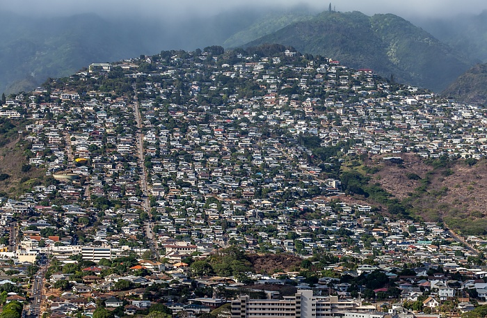 Honolulu Blick vom Diamond Head: Maunalani Heights (Kaimuki) Wilhelmina Rise