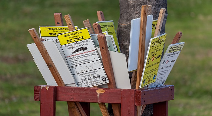 Koloa Poipu Beach Park: Informationstafeln