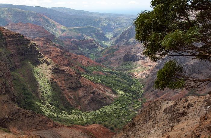 Blick vom Pu'u Hinahina Viewpoint: Waimea Canyon Waimea Canyon State Park