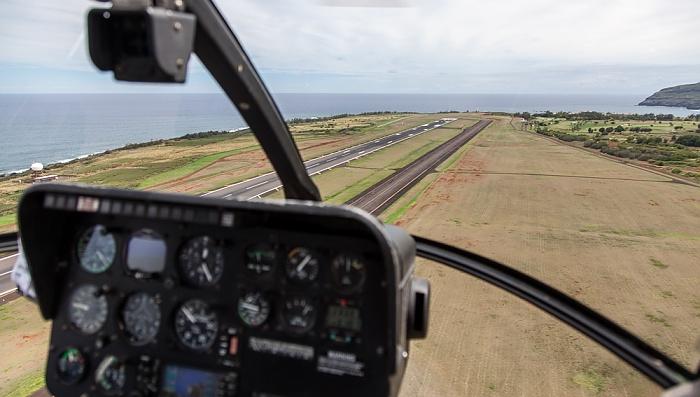 Blick aus dem Hubschrauber: Lihue Airport Luftbild aerial photo