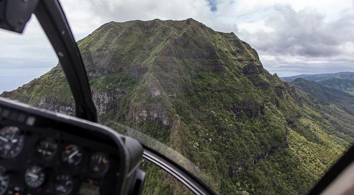 Kauai Blick aus dem Hubschrauber: Hoary Head Ridge Luftbild aerial photo