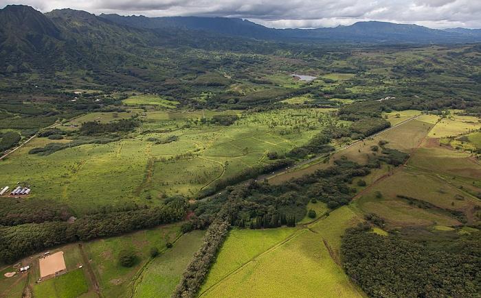 Kauai Blick aus dem Hubschrauber Kaumualii Highway Luftbild aerial photo