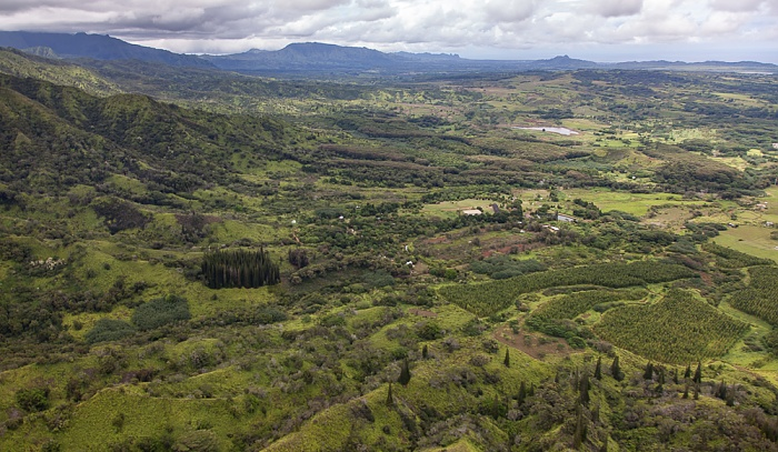 Blick aus dem Hubschrauber Kauai